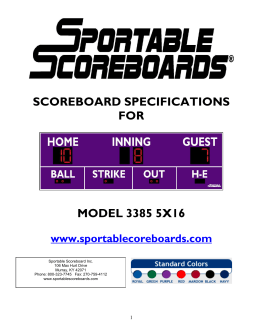 Sportable Scoreboard Inc. 106 Max Hurt Drive Murray, KY 42071