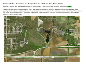 Directions to John Deere Worldwide Headquarters, One John Deere