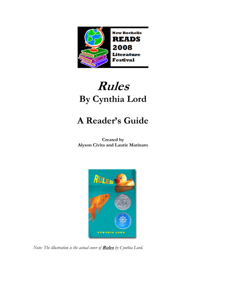 rules by cynthia lord a reader s guide