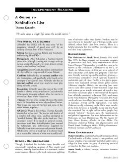 schindler's list study guide project - Michelle Kulowski ...