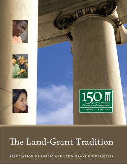 The Land-Grant Tradition - Association of Public and Land