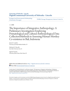 The Importance of Integrative Anthropology