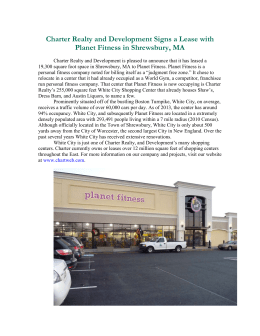 Charter Realty and Development Signs a Lease with Planet Fitness