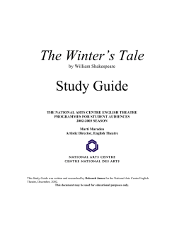 The Winter's Tale Study Guide