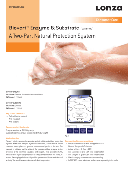 Biovert™ Enzyme & Substrate (patented) A Two