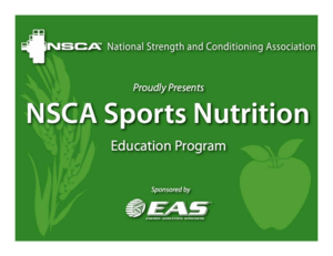 NSCA Nutrition Powerpoint