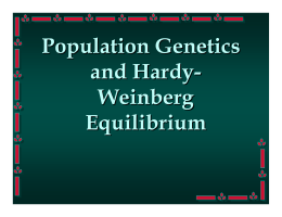lab report 1hardy weinberg equilibrium