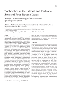 Zoobenthos in the Littoral and Profundal Zones of Four Faroese Lakes