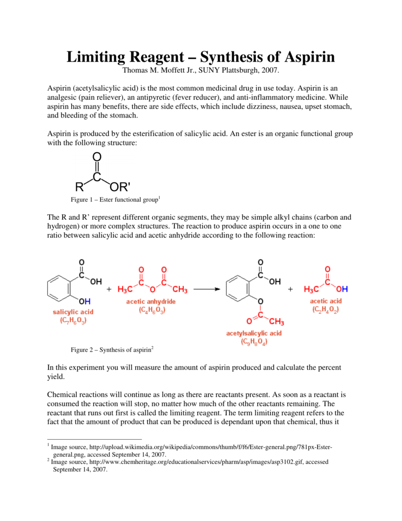 synthesis of aspirin from salicylic acid