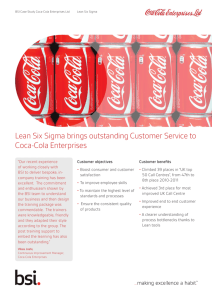 Coca-Cola Enterprises case study