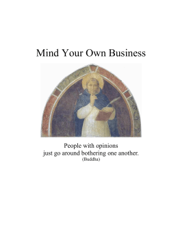 Mind Your Own Business - Spiritual Quotations for Lovers of God