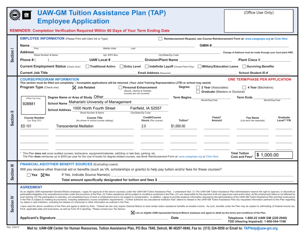 008769067_1-853d896aa01e64533cf5bc0be92884a9 Employer Tuition Istance Application Form on