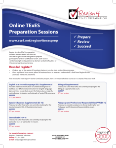 Online TExES Preparation Sessions