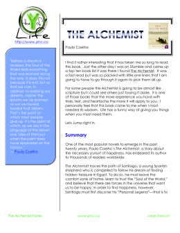 the alchemist literary plan sample pdf summary the why of life