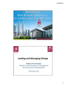 Action Learning at Asia School of Business Leading and Managing
