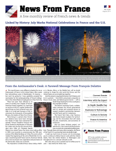 Vol. 14.07 / August 2014 - Embassy of France in Washington, DC