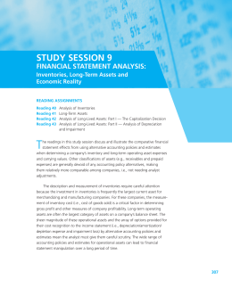 STUDY SESSION 9 FINANCIAL STATEMENT ANALYSIS
