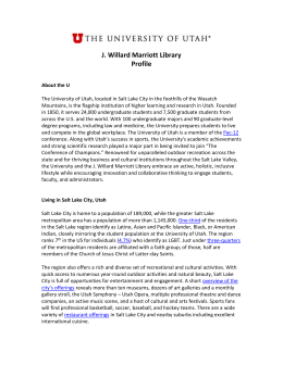 J. Willard Marriott Library Profile