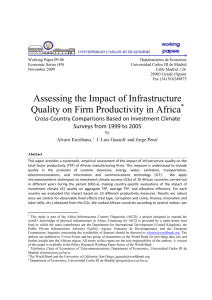 Assessing the Impact of Infrastructure Quality on Firm Productivity in