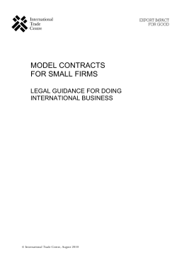 Model Contracts for Small Firms