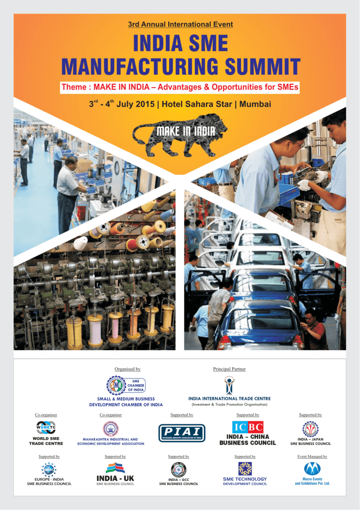 INDIA SME MANUFACTURING SUMMIT