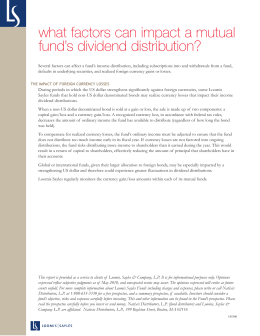 what factors can impact a mutual fund's dividend distribution?