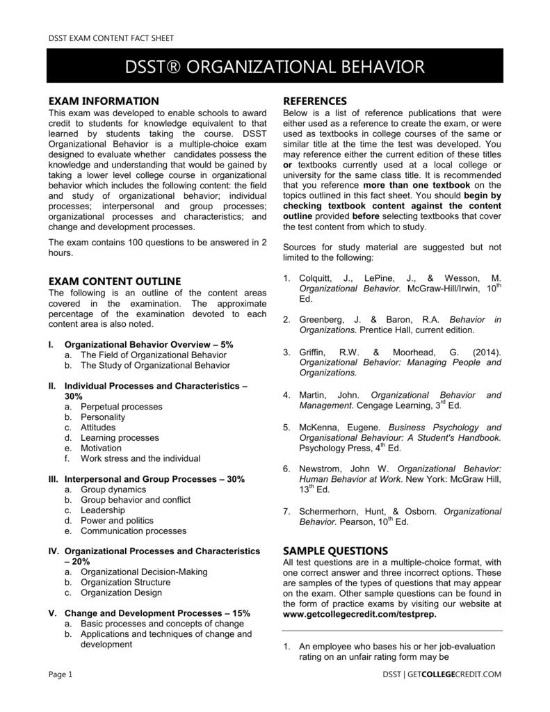 behavior in organizations 10th edition