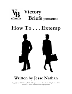 Victory Briefs How To . . . Extemp