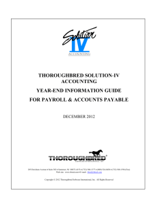 thoroughbred solution-iv accounting year-end - Solution