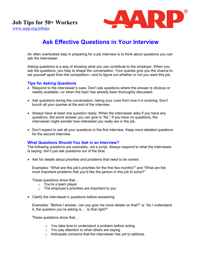 ask effective questions in your interview job tips for 50 workers - Do You Have Any Questions For Me Interview Question And Answers