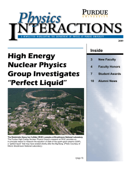 2009, PDF - Purdue University :: Department of Physics and