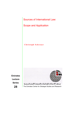 Sources of International Law: Scope and Application