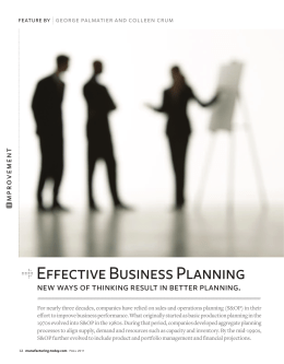Effective Business Planning