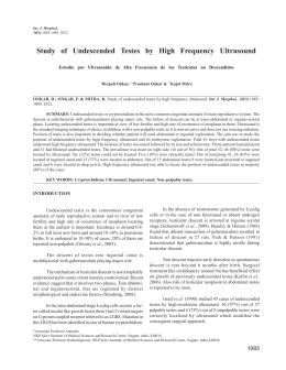 Study of Undescended Testes by High Frequency Ultrasound