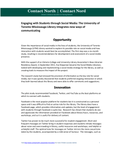 Engaging with Students through Social Media: The
