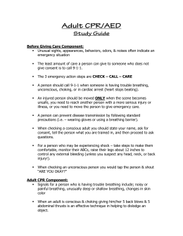 Adult CPR/AED Study Guide