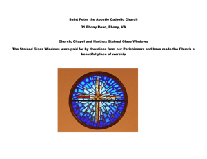 Stained Glass Windows - St. Peter The Apostle Catholic Church