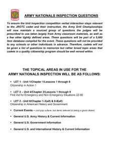 ARMY NATIONALS INSPECTION QUESTIONS THE TOPICAL