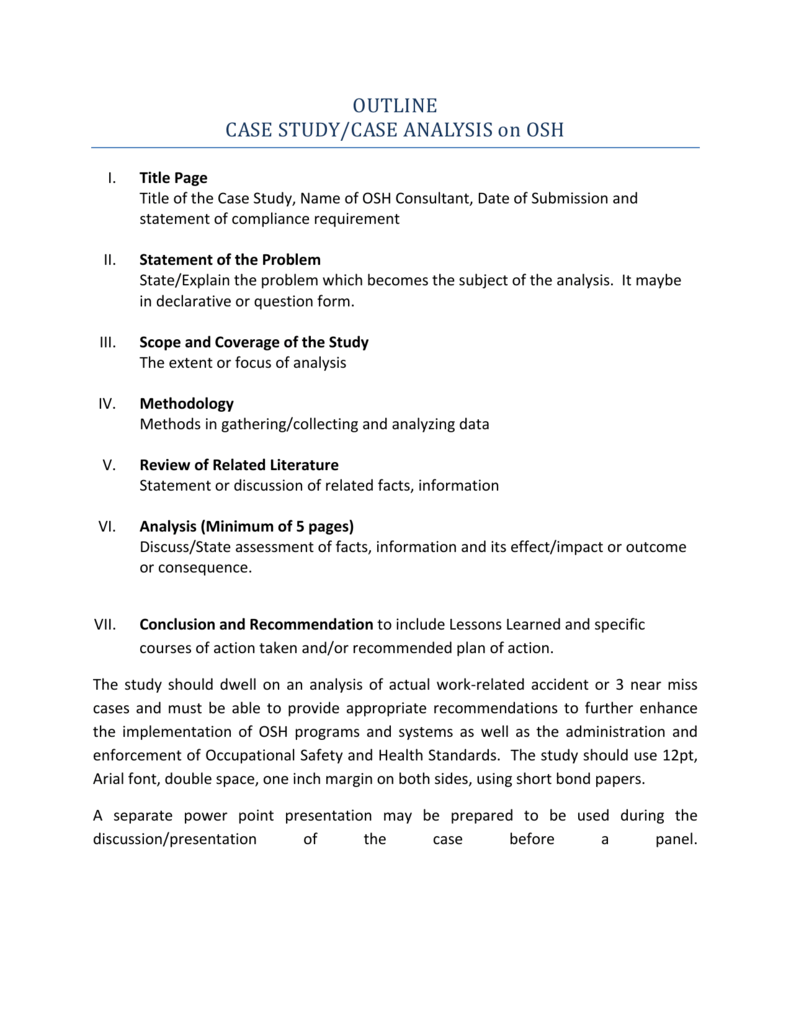 Case Study Outline
