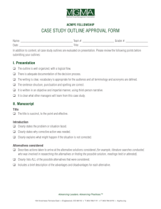 case study outline approval form