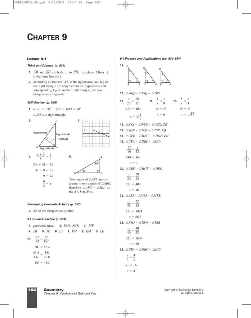 lesson 13-1 tangent ratio practice and problem solving a/b