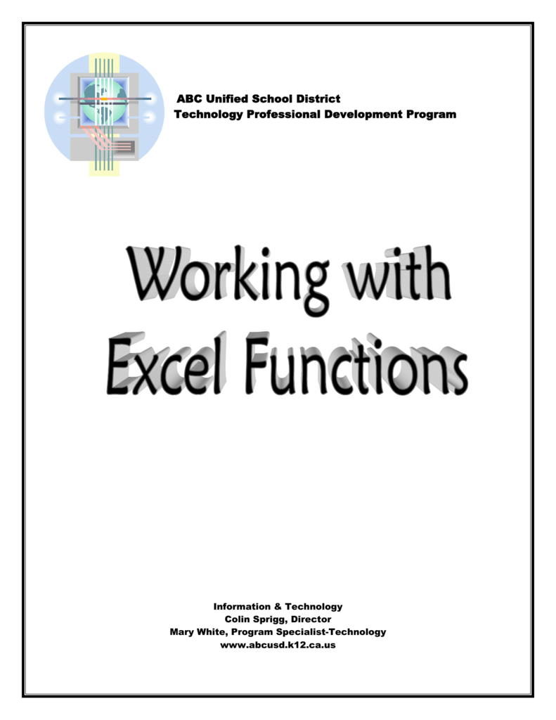 Excels Built In Functions