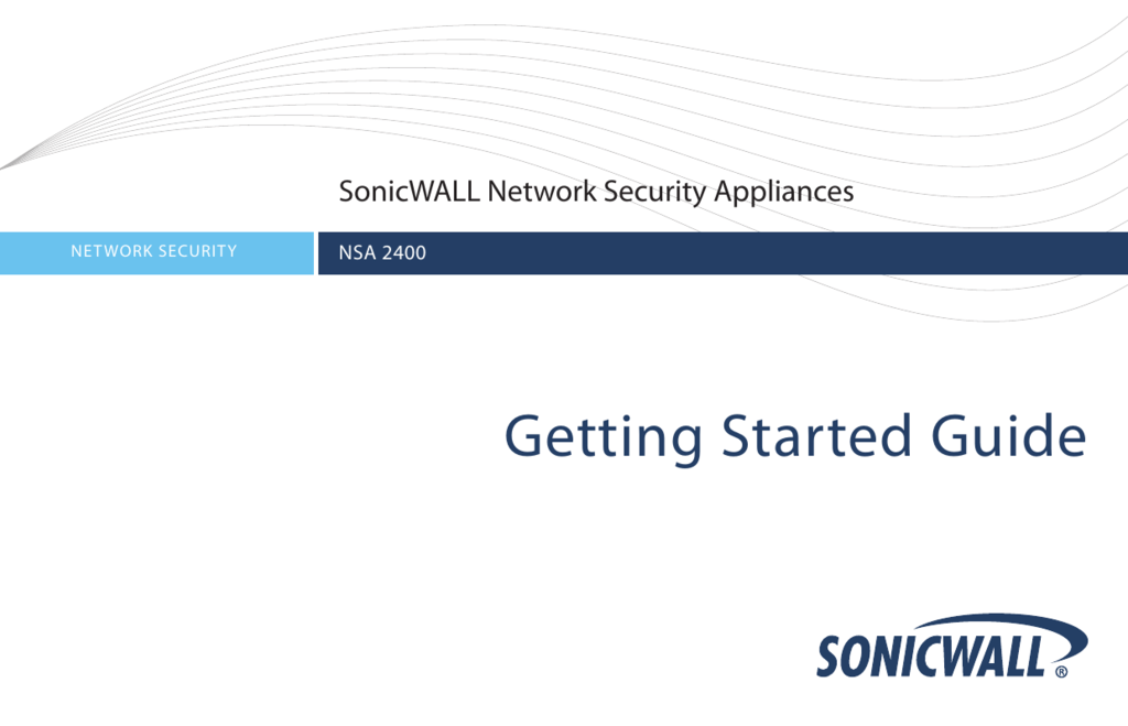 SonicWALL NSA 2400 Getting Started Guide