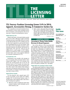 TLL Survey: Fashion Licensing Grows 3.4% in 2014