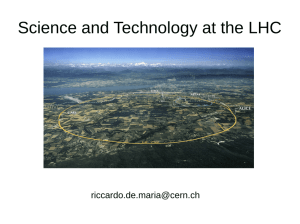 Science and Technology at the LHC