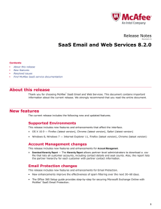 SaaS Email and Web Services 8.2.0 Release Notes