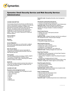Symantec Email Security Service and Web Security Service