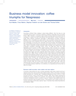 Business model innovation: coffee triumphs for Nespresso