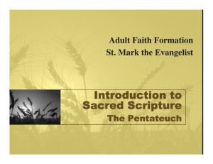 Pentateuch - St. Mark the Evangelist Catholic Church