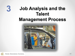 What is job analysis? - Rome Business School